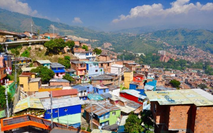 The rooftops of Comuna 13 in Medellín
