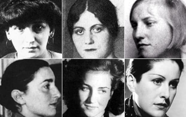 Picasso's muses: Fernande Olivier (clockwise from top left), Olga Khoklova, Marie-Thérèse Walter, Dora Maar, Françoise Gilot and Jacqueline Roque