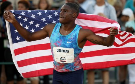 Image result for Christian Coleman breaks 20-year-old 60m indoor world record