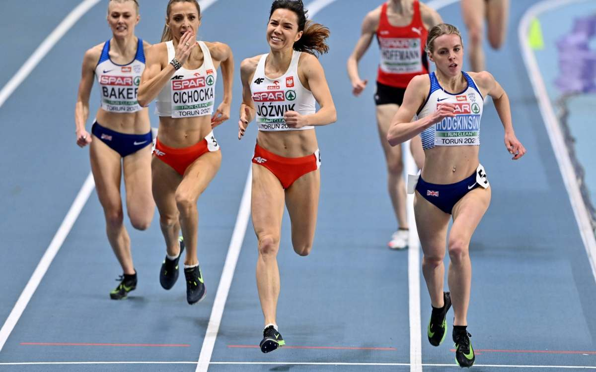 Hodgkinson powers home to win gold in Poland