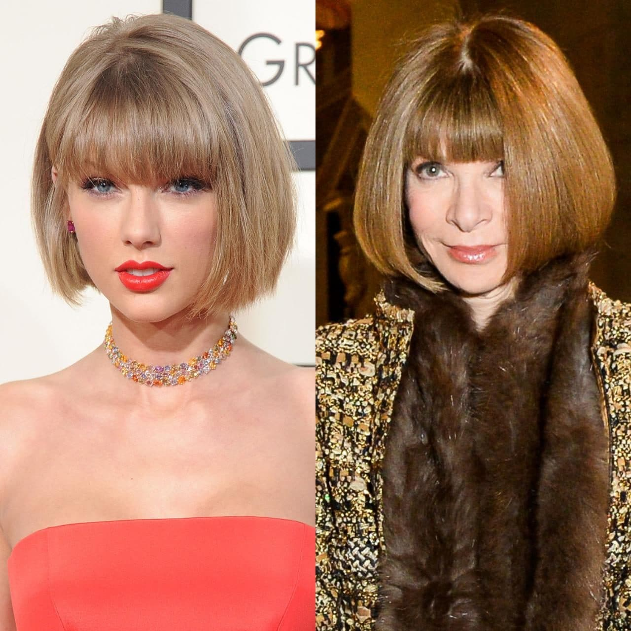 Is Taylor Swifts Blunt Bob Inspired By Anna Wintour