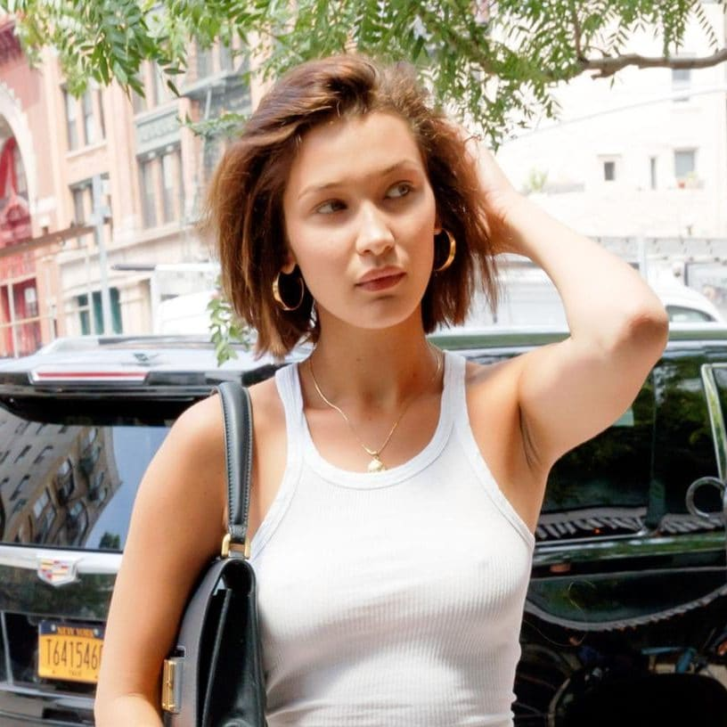 Bella Hadid Stepped Out With A New Razor Sharp Bob