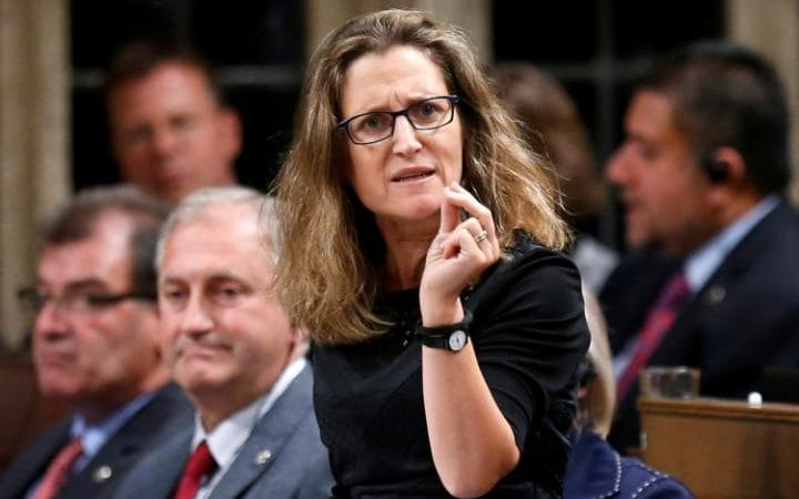 Canada's International Trade Minister Chrystia Freeland