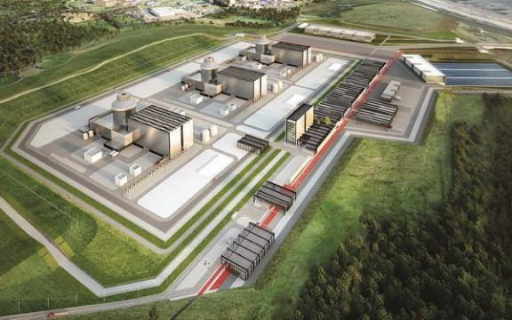An artist's impression of how the Moorside nuclear plant in Cumbria may look
