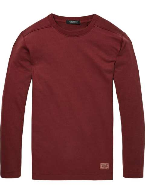 Combined sweatshirt  in mahogany red