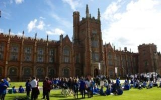 Queens University of Belfast, the main Lanyon building in Northern Ireland
