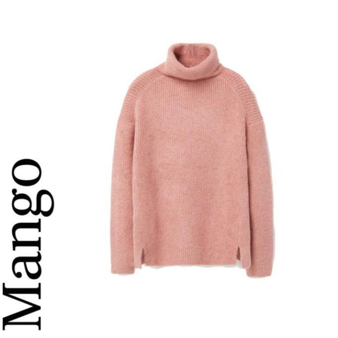 Stand-collar sweater, £39.99, Mango