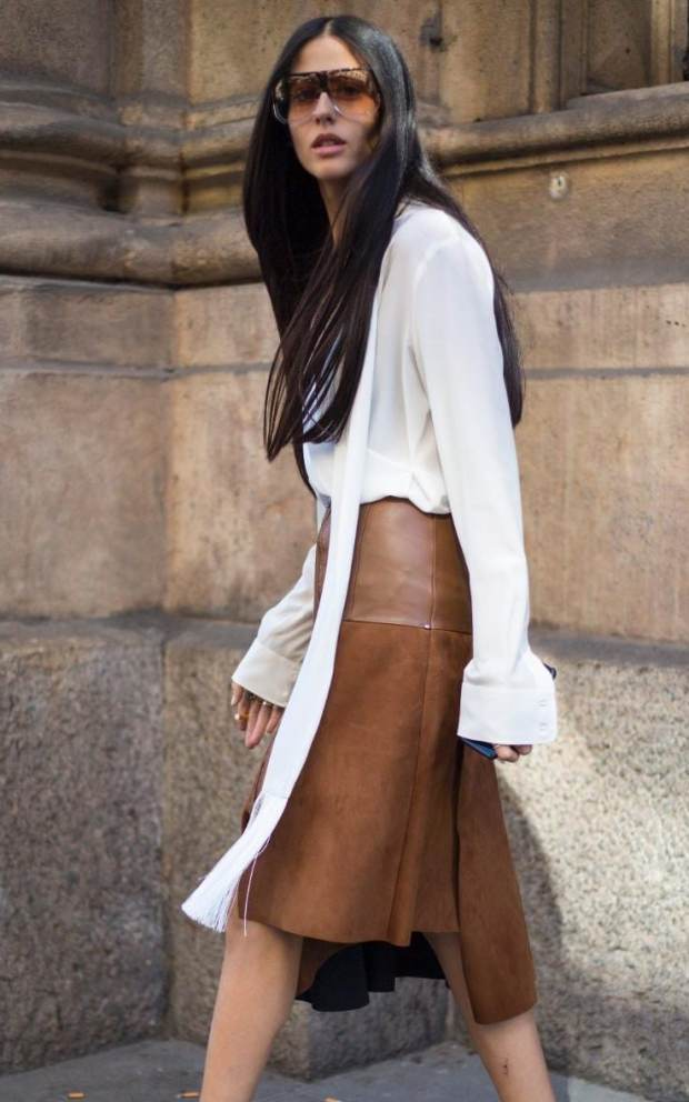 Keep the sleeves long and unbottoned like editor Gilda Ambrosio