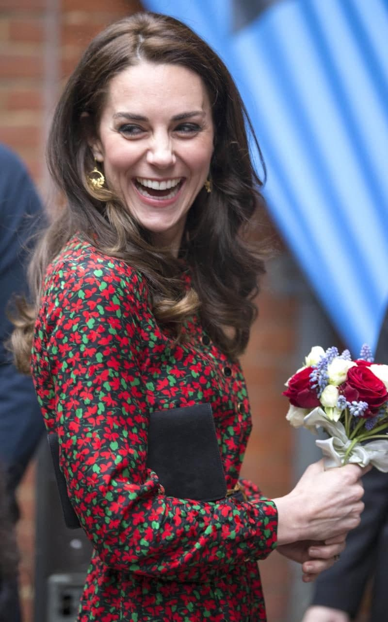 The Duchess Of Cambridge Gets In The Festive Mood In A