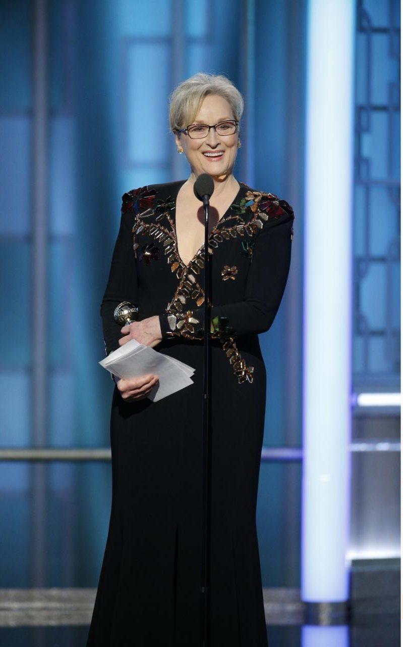 Meryl Streep at the 74th annual Golden Globe Awards