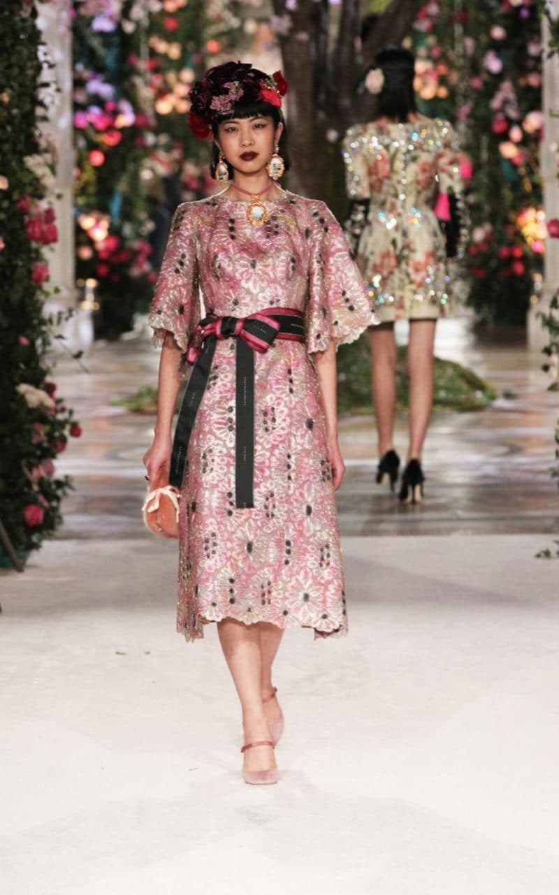 A look from Dolce and Gabbana's Alta Moda collection