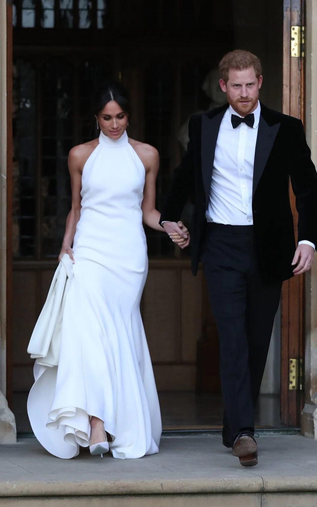 Meghan Markle's evening dress: New Duchess of Sussex ...