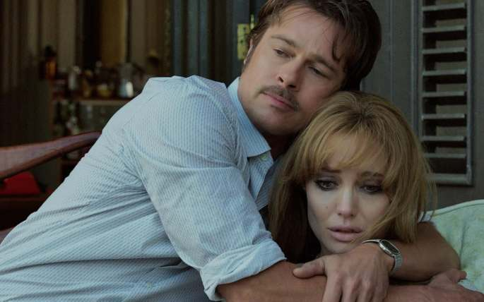Pitt and Jolie in By the Sea, their first film together since Mr & Mrs Smith