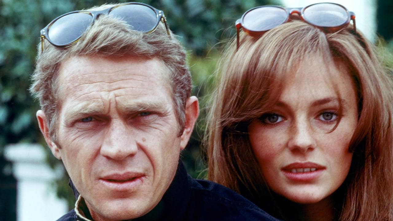 Steve McQueen and Jaqueline Bisset in 1977