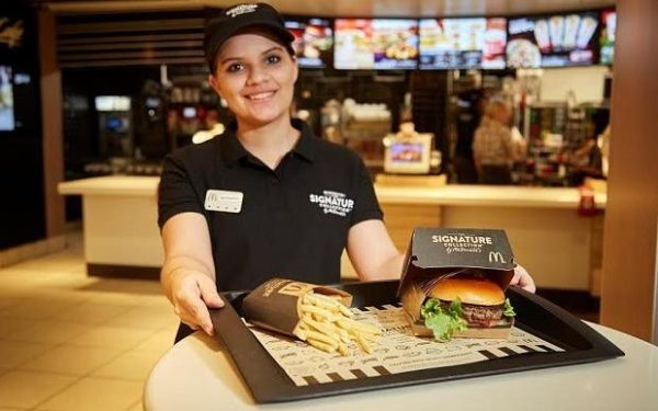 Table service at McDonald's? That's not a happy meal