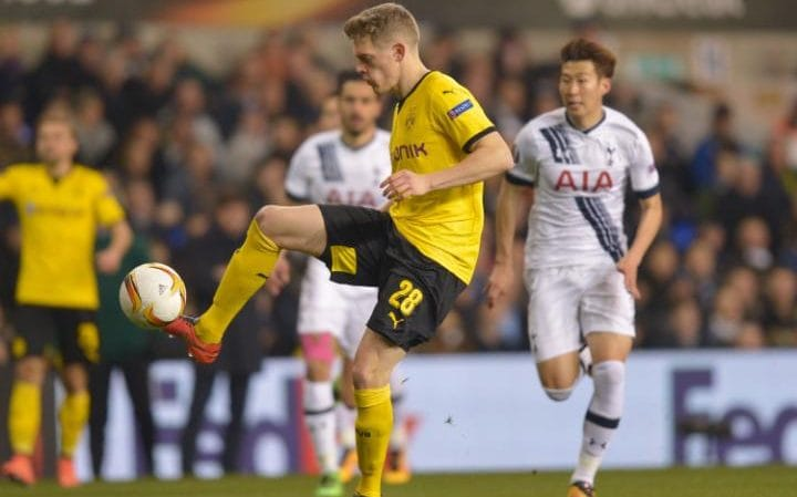Matthias Ginter of Borussia Dortmund during the UEFA Europa League Round of 16 - Second Leg match between Tottenham Hotspur and Borussia Dortmund