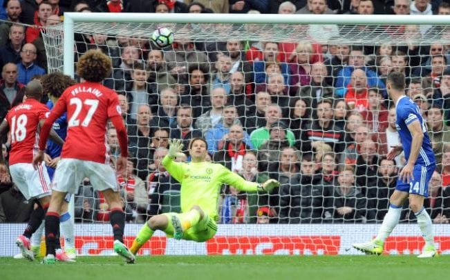 Manchester United's Ander Herrera, not in picture, scores his side's second goal