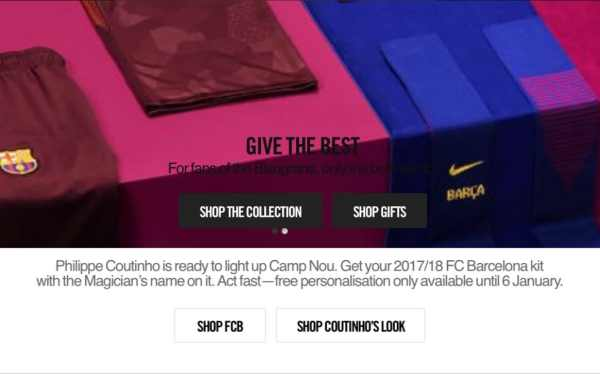 Has Philippe Coutinho signed for Barcelona? Nike make ...