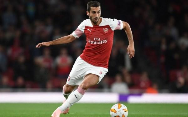 Henrikh Mkhitaryan misses Arsenal's Europa League tie with ...