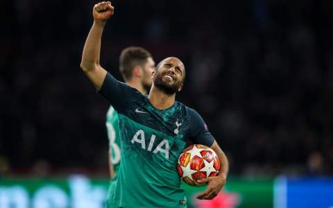 Hat-trick hero Lucas Moura claims the match ball