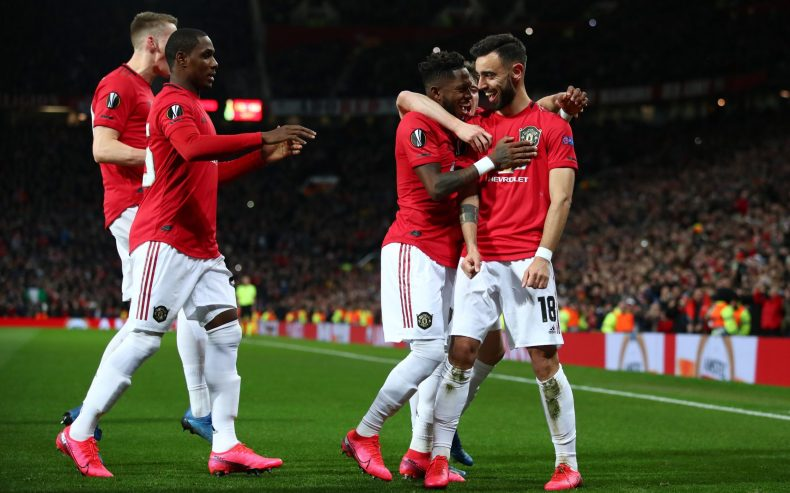 Bruno Fernandes-inspired Manchester United ease into Europa League last-16  with demolition of Club Brugge