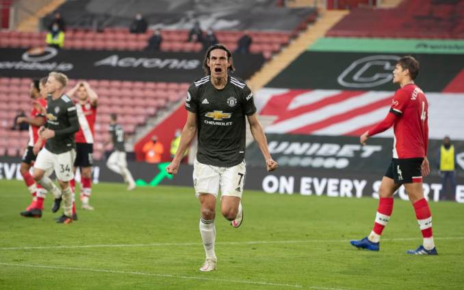 Edinson Cavani scores twice off the bench in superb Manchester United  comeback win against Southampton