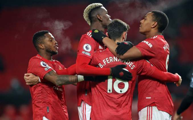 Man Utd level on points with Liverpool after winning pulsating encounter with Aston Villa