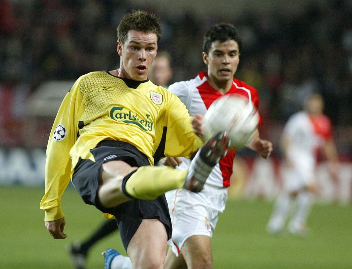 Liverpool's midfielder Igor Biscan (G) i...Liverpool's midfielder Igor Biscan (G) is challenged by Monaco's forward Javier Saviola of Argentina during their Champions Ligue Group A football match, 23 Novenber 2004 at the Louis 2 stadium in Monaco