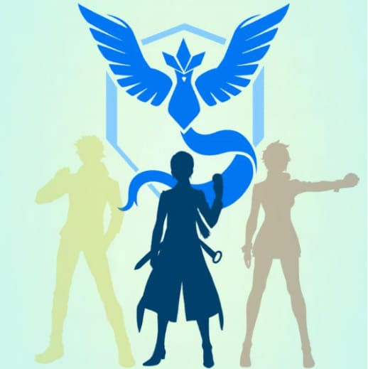 Team Mystic, the blue team