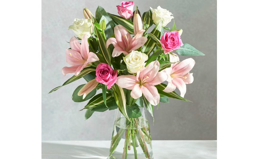 Bouquet of lillies and roses from Next flower delivery