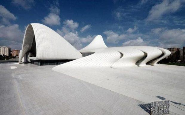 The Heydar Aliyev Center in Azerbaijan was completed in 2013