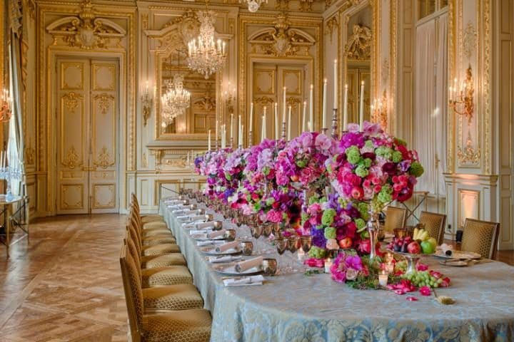 Bonaparte Dinners are staged within historical lounges at the Shangri-La Paris