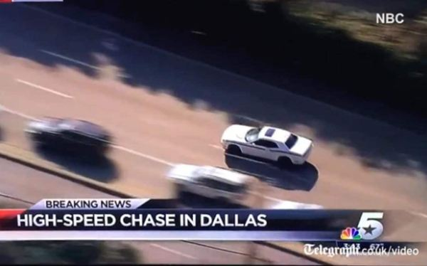 Furious mother stops high-speed car chase in Dallas