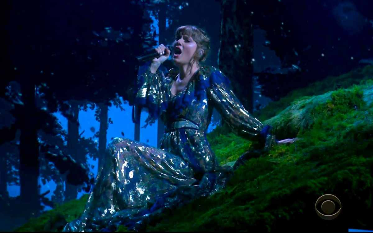 Taylor Swift performs a medley at the 63rd annual Grammy Awards