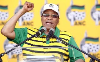 South African president and African National Congress president Jacob Zuma delivers a speech during the Party official launch of the Municipal Elections manifesto earlier this month
