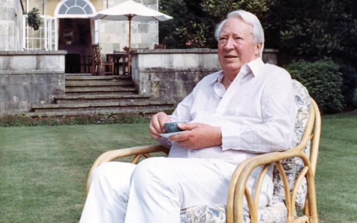 Sir Edward Heath in 1989