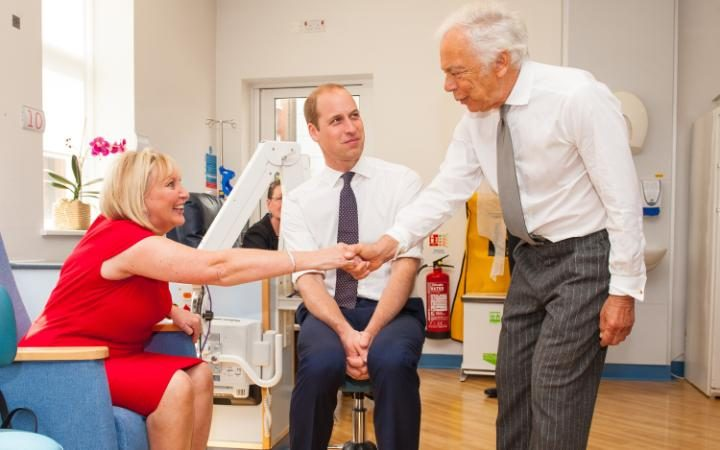 Ralph Lauren and the Duke of Cambridge meet breast cancer patient Kathryn England