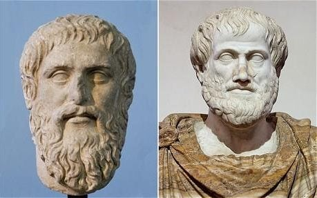 Busts of Plato and Aristotle