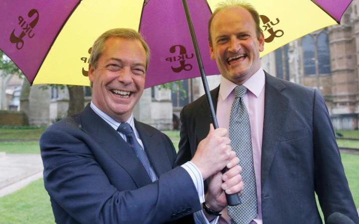 Nigel Farage and UKIP Party MP Douglas Carswell