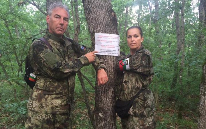 Tatjana Festerling posted images of herself and Edwin Wagensveld hunting migrants with vigilantes along the Bulgarian border with Turkey