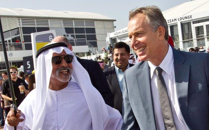 Tony Blair on a trip to Abu Dhabi in 2011