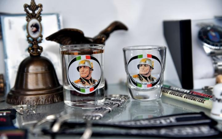 Fascist sympathisers flock to the town of Predappio, which does a roaring trade in selling Mussolini-themed souvenirs.