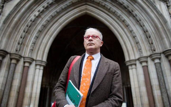 Phil Shiner outside the High Court
