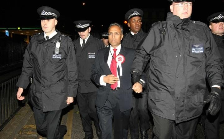 Lutfur Rahman after being declared mayor of Tower Hamlets