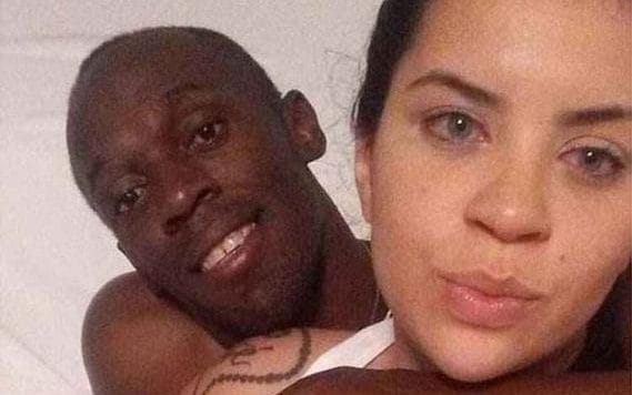 Jady Duarte (right) shared photos taken with Usain Bolt on Whatsapp