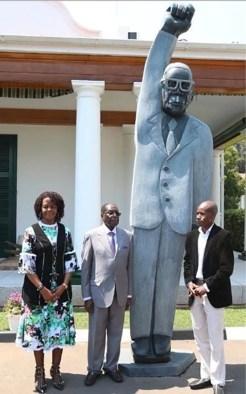 Image result for ROBERT MUGABE SCULPTURE