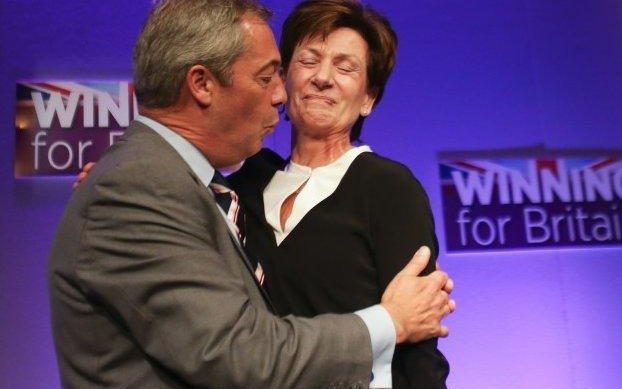 Image result for image of Nigel Farage and Diane James
