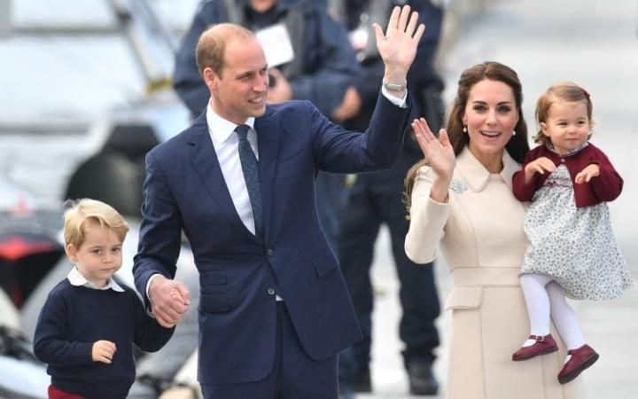 The Duke and Duchess of Cambridge, Prince George and Princess Charlotte in Canada last year
