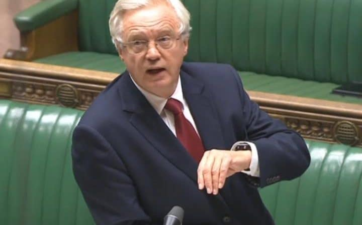 David Davis, the Brexit minister, will make a statement to the Commons today