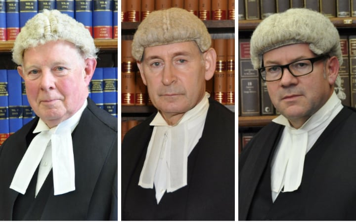 The three judges, from left to right, Lord Thomas, Sir Terence Etherton and Lord Justice Sales